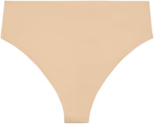 1X Savage X Fenty Womens High-Waist Microfiber Thong Brown Sugar Nude