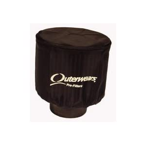 """NEW OUTERWEARS BLACK COVER WITH TOP FOR 5"""" DIAMETER X 3"""" TALL AIR FILTERS, K&N RC-0860 RU-2420 KARTING GO KARTS SPRINT CARS MIDGETS MICRO MINI SPRINTS DWARF CARS LEGENDS"""