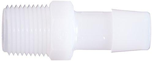 Eldon James A6-8HDPE High Density Polyethylene Adapter Fitting, 3/8-18 NPT to 1/2'' Hose Barb (Pack of 10) by Eldon James (Image #2)