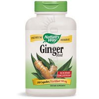 Ginger 100 Capsules (Nature's Way Ginger Root; 1.1 gram Ginger Root per serving; Non-GMO Project Verified; TRU-ID Certified; Gluten-Free; Vegetarian;  100 Capsules)