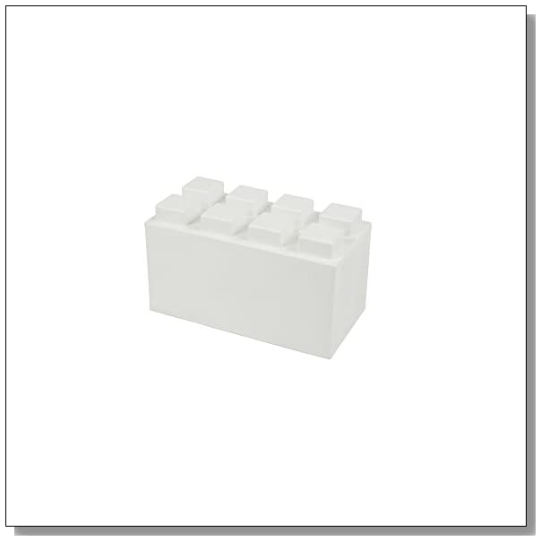 EverBlock Modular Building Blocks - Full Block Bulk Pack, 18 Blocks - White