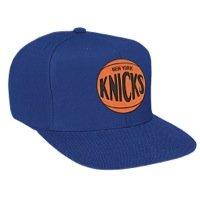Mitchell & Ness One Tone Team Logo Snapback Hat (Blue New York Knicks)
