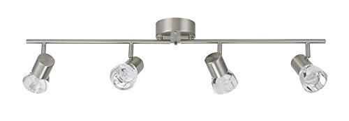 Track Fixed (Catalina Lighting 20856-000 Pax Chrome Metal 4-Light LED Fixed Track)