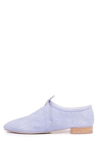 Jeffrey Campbell Prieto-2 Daim Bleu Clair Noué V Coupé Plat Talon Chaussures Empilées