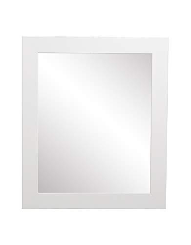 BrandtWorks Wall Mirror, 32 x 36 , Pure White