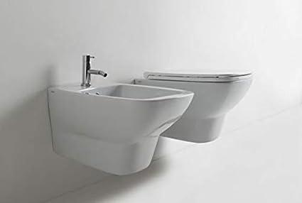 Sanitari Sospesi Ceramica Globo Daily WC + BIDET + SEDILE soft close ...