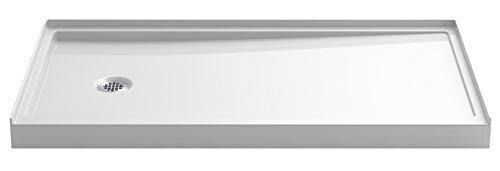 Shower Pans Kohler (KOHLER 8459-0 Rely Single-Threshold Shower Base with Left-Hand Drain, 60