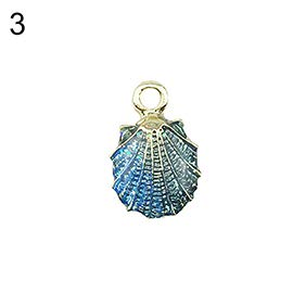 Gloa Earrings 10Pcs Ocean Conch Seashell Starfish Pendant Charms Handmade DIY Jewelry Making - Random Color Seashell ()
