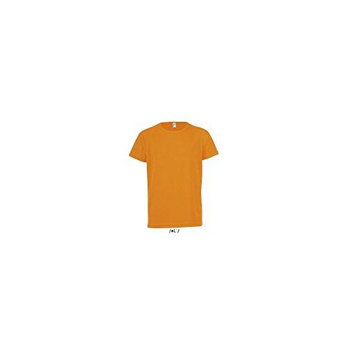 SOL´S Kids Raglan Sleeved T-Shirt Sporty, 12 (142/152), Neon Orange