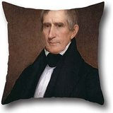 Oil Painting Albert Gallatin Hoit - William Henry Harrison Cushion Covers ,best For Pub,boys,outdoor,office,bar Seat,dinning Room 16 X 16 Inches / 40 By 40 Cm(double Sides)