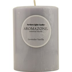 Lavender & Vanilla Essential Blend By Lavender & Vanilla Essential Blend One 3X4 Inch Pillar Essential Blends Candle. Burns Approx. 90 - Blend Inch Candle 3x4 Pillar