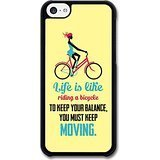 a Bicycle Albert Einstein Life & Love Inspirational Quote case for iPhone 5C ()