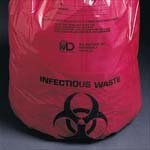 Medical Action Industries Ultra-tuff Waste Bags 11'' X 14'' 1-6 Gallon 1.5 Mil - Model 50-42 - Box of 50