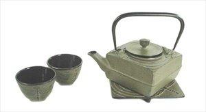 (JapanBargain 2091, Square Cast Iron Tea Set,)