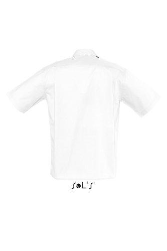 Sols - Bristol - Herren Popeline Hemd Kurzarm , White , XXL
