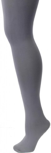 Memoi Completely Opaque Heavyweight 80 Denier Control Top Tights Charcoal (Heavyweight Nylon Tights)