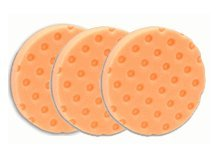 Lake Country - CCS Orange Hook & Loop Light Cutting Foam Pads - 5.5 Inch Diameter - 3 Pack