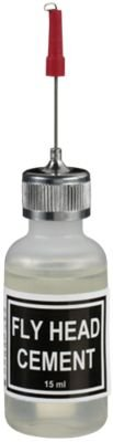 White River Fly Shop PNTFHL Fly Head Cement With Applicator Bottle
