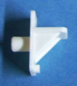 Shelf Support Plastic White 1/4'' peg 60/bag 1811WH