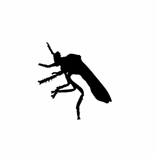 SHMAZ 14.1 Cm * 14.8 Cm Ongewoon Mooi Insect Delicate Handige Sticker Mooie Auto Sticker Zwart/Zilver