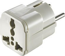Dynex Travel Grounded Adapter Plug for Continental Europe DX