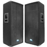 Seismic Audio - Pair of Dual 12'' PA DJ SPEAKERS 1200 Watts PRO AUDIO - Band, Bar, Wedding, Church by Seismic Audio