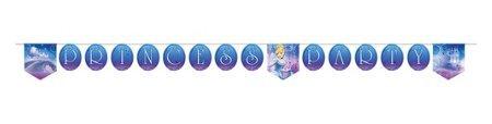 Cinderella Birthday Banner (Hallmark Cinderella 'Sparkle' Plastic Happy Birthday Banner)
