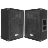 Seismic Audio - FL-10MP (Pair) - Pro Audio PA/DJ 10'' Monitors - 100% Birch Plywood  - 500 Watts