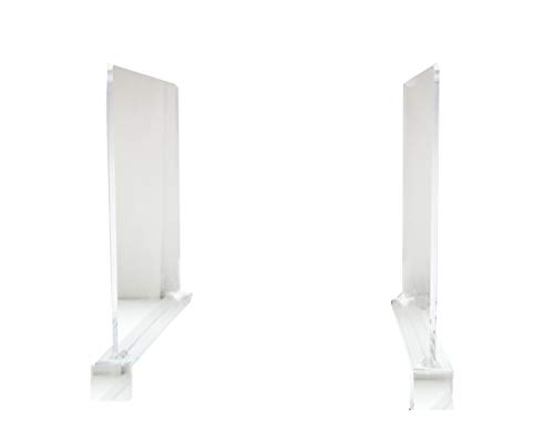 PremierInteriors 2 Piece Clear Acrylic Shelf Dividers for Closets, Wood Shelves, Kitchen Cabinets, and Libraries