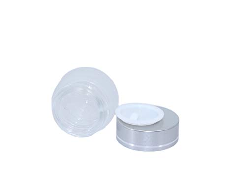 5 Gram Frosted Glass Jar,19 Pack Sample Cosmetic Containers Makup Pots Cream Lotion Lip Blam Packing Storage Bottles With Silver Lids