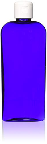 Basics Blue Lavender Shampoo - MoYo Natural Labs 8 oz Flip Cap Bottle, Empty Containers for Shampoo or Lotions, BPA Free PET Plastic Squeezable Toiletry/Cosmetic Bottles (2 pack, Cobalt Blue)