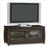 nch Wide Flat Panel TV Credenza - Walnut (Tech Craft Wood Finish Tv Stand)