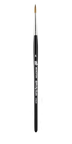 Princeton (1-Pack) 7050 Kolinsky Sable Short Handle Watercolor Paint Brush Size 4 Round 7050R-4--Best Watercolor Brush by Princeton