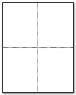 EGP IRS Approved Blank W-2 4 Up Tax Form with Back Instructions, Quadrant Layout, for 100 Recipients - Order W2 Forms