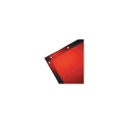 Wilson 14-Mil See-Thru Welding Curtain (36278), 6 x 10 feet, Orange Vinyl Curtain, Standard Grommets, 1 / Case