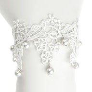 Brautschmuck armband perlen Elegantes viktorianisches Brautschmuck Vintage Armband aus weißer ...