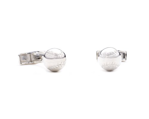 Ravi Ratan Mens Sterling Baseball Cufflinks ()