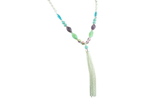 Antique+Silver+Plated+with+Multiple+Turquoise+and+Crystal+Necklace+104%23