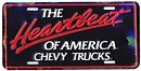 Heartbeat of America Chevy Trucks License Plate