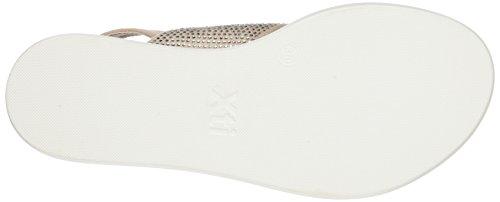 XTI 046743, Sandalias con Plataforma Plana para Mujer Rosa (Nude)