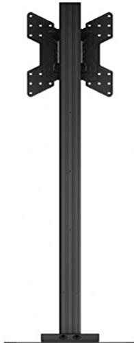 Crimson AV S55VLP Floor Stand with VESA 400 Adapter and Post-Installation Landscape to Portrait Rotation, Black, 150lb (68kg) Weight Capacity, 400x400mm Max Mounting Pattern by Crimson AV (Image #4)