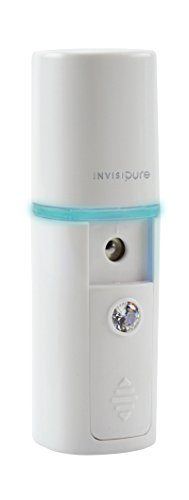 InvisiPure Facial Nano Mister Spray - Travel Ultrasonic Atomizer Mist Spray - Personal Size Mist Spray for Skin Hydration, Eyelashes, Face, and Body - Uses AAA Batteries - No need for charging cable by InvisiPure