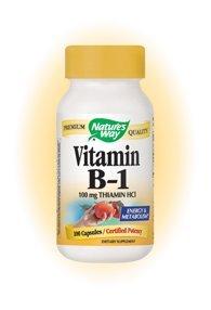 Nature's Way Vitamin B-1 100 Mg - 100 Capsules ( 5-Pack)