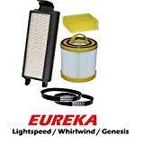 Eureka Lightspeed, Whirlwind, Genesis II Bagless Upright Vacuum Supply Kit