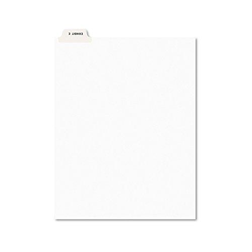 Avery 11944 Avery-Style Preprinted Legal Bottom Tab Divider, Exhibit E, Letter, White (Pack of 25)