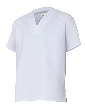 Casaca Vestuario Alimentación sin Bolsillos - Color: Blanco ...
