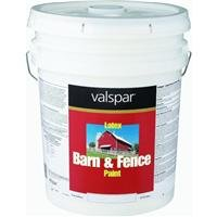 Valspar 3125-10 Barn and Fence Latex Paint, 5-Gallon, Red