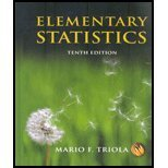 Elementary Statistics, Triola, 0131959980