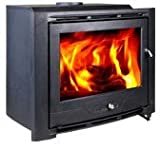 HiFlame Wood Burning Fireplace Insert HF577IU7 Paint Black