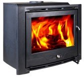 HiFlame Wood Burning Fireplace Insert HF577IU7 Paint Black (Woodburning Fireplace Heater compare prices)